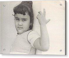 Puerto Rican-american Girl 1964 Acrylic Print