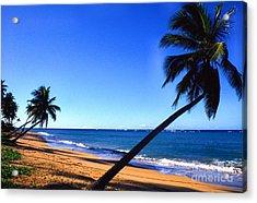 Puerto Rico Beach Acrylic Print by Thomas R Fletcher