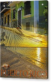 Puerto Rico Collage 3 Acrylic Print by Stephen Anderson