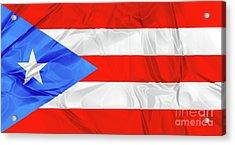 Puerto Rico Flag Acrylic Print