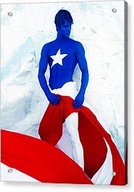 Puerto Rico Flag Acrylic Print by Filippo Ioco
