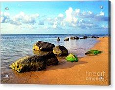 Puerto Rico Rio Grande Shoreline Acrylic Print by Thomas R Fletcher