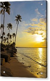 Puerto Rico Sunset Acrylic Print by Stephen Anderson