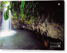 Puerto Rico Waterfall Acrylic Print by Thomas R Fletcher