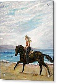 Puerto Vallarta Beach Ride Acrylic Print by Olga Kaczmar