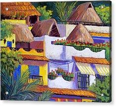 Puerto Vallarta Hillside Acrylic Print by Candy Mayer