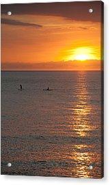 Puerto Vallarta Sunset Acrylic Print by Sebastian Musial