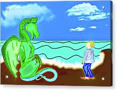 Acrylic Print featuring the digital art Puff by John Haldane