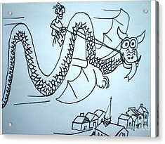 Puff The Magic Dragon Acrylic Print by Hal Newhouser