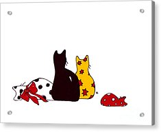 Puffie And Muffie Family Portrait Acrylic Print