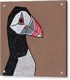Puffin Acrylic Print by Bizarre Bunny