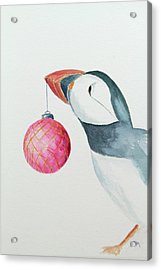 Puffin's First Christmas Acrylic Print by Doug Moore