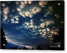 Puffy Storm Clouds Acrylic Print