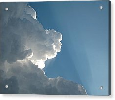 Puffy White Clouds Acrylic Print by Liz Vernand