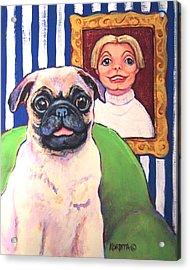 Pug - Beth Ann And Butch Acrylic Print by Rebecca Korpita