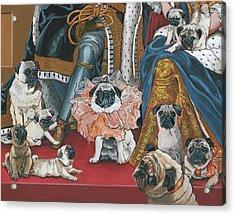Pug- Coronation Acrylic Print