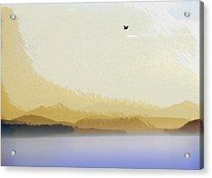 Puget Sound - Sunset Mist  Acrylic Print by Steve Ohlsen