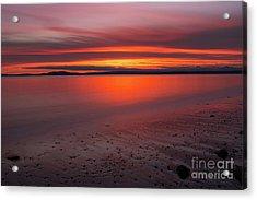 Puget Sound Burning Skies Sunset Reflection Serenity Acrylic Print