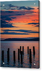 Puget Sound Sunset Acrylic Print