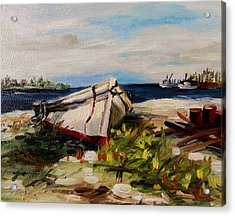 Acrylic Print featuring the painting Pulled Up On Shore by John Williams