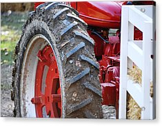 Pulling For The Farm Acrylic Print by Peter  McIntosh