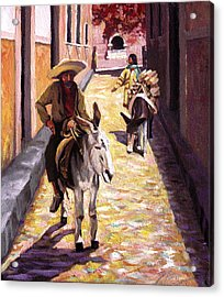Pulling Up The Rear In Mexico Acrylic Print