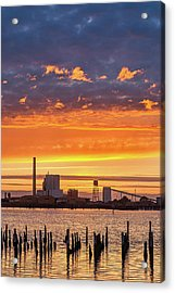 Pulp Mill Sunset Acrylic Print by Greg Nyquist