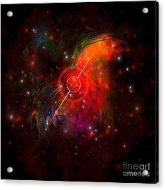 Pulsar Acrylic Print by Corey Ford