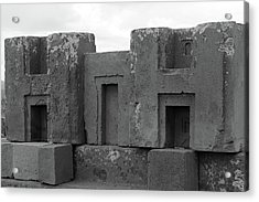 Puma Punku H Blocks, Bolivia Acrylic Print