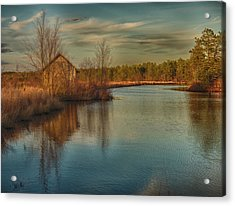 Pump House On The Mullica River Acrylic Print