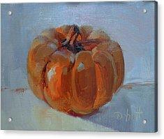 Pumpkin Alone  Acrylic Print by Donna Shortt