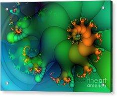 Pumpkin Garden Acrylic Print by Jutta Maria Pusl