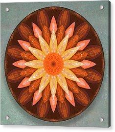 Pumpkin Mandala -  Acrylic Print