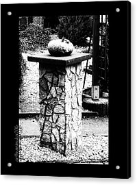Pumpkin On A Pedestal Acrylic Print by Mimulux patricia no No
