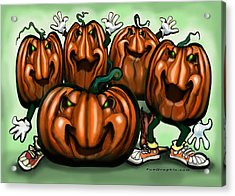 Pumpkin Party Acrylic Print by Kevin Middleton