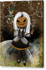 Pumpkin Spice Latte Monster Fantasy Art Acrylic Print