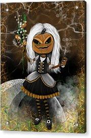 Pumpkin Spice Latte Monster Fantasy Art Acrylic Print