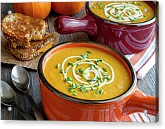 Pumpkin Squash Soup For Dinner Acrylic Print