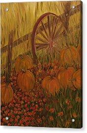 Pumpkin Wheel Acrylic Print by Shiana Canatella