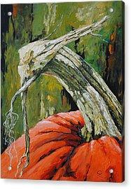 Pumpkin1 Acrylic Print by Chris Steinken