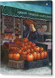 Pumpkins For Sale Acrylic Print by Susan Savad