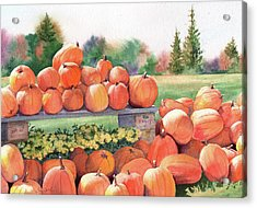 Pumpkins For Sale Acrylic Print