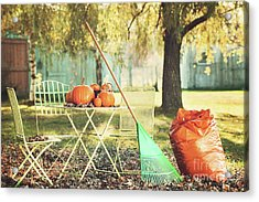 Pumpkins On The Table Acrylic Print