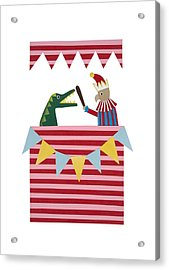 Punch And Judy Acrylic Print by Isobel Barber
