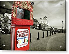 Punch And Judy Theatre On Llandudno Promenade Acrylic Print by Mal Bray