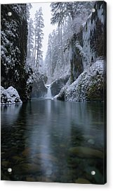 Punch Bowl Winter Acrylic Print