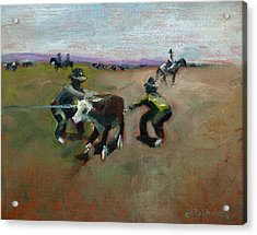 Punchin Doggies Acrylic Print