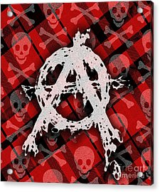 Punk Anarchy Acrylic Print by Roseanne Jones