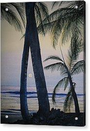 Punta Cana Moon Acrylic Print