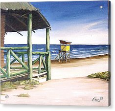 Acrylic Print featuring the painting Punta Del Diablo S Morning by Natalia Tejera